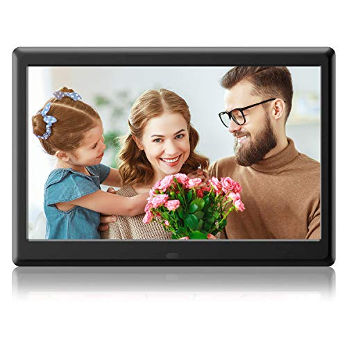 DBPOWER Advanced 10 inch Digital Picture Frame - HD Digital Photo & Video Frame with IPS Display, Remote Control, Calendar View & USB/SD Card Slot