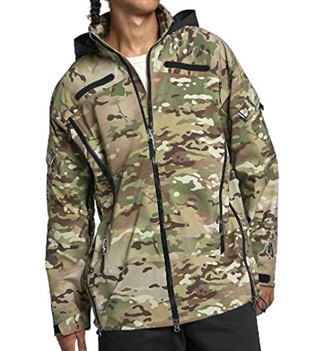 Nike M NRG Military JKT Herrenjacke, Mehrfarbig (Olive/Black)