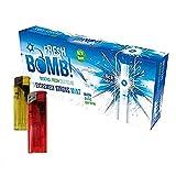 Tubos para rellenar cigarrillos con click Fresh Bomb Arctic Strong Mint. Sabor a menta fuerte. (5 Cajas, 500 tubos) + 2 Mecheros Electrónicos de Regalo