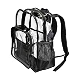 """HEAVY DUTY Large Clear Transparent Backpack by PLANET MADE FAMILY 