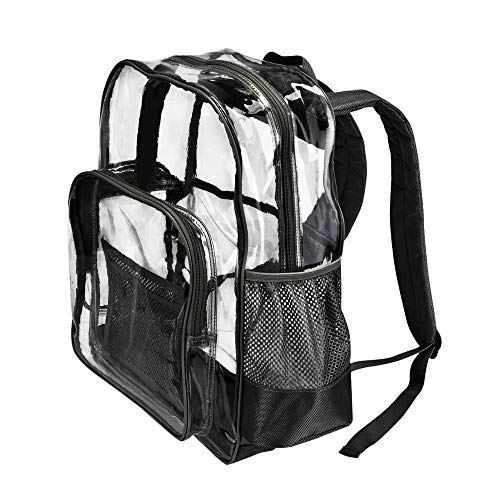 HEAVY DUTY Large Clear Transparent Backpack by PLANET MADE FAMILY