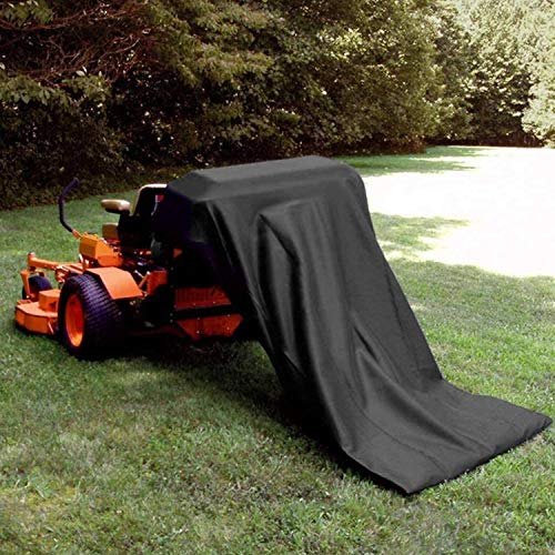 DecorMaster Extra Large Reusable Lawn Tractor Leaf Bag with Zipper Grass Bagger Garden Lawn Pool Garden and Leaf Trash Bags Leaves Waste Bag 54 Cu. Ft. Black