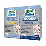 Real Relief Breathe Daytime/Nighttime, 2 x 90 Tablets