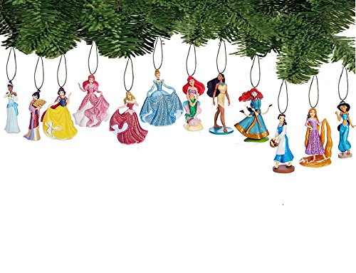 Disney Princess Holiday Ornament Set of 12 Pc