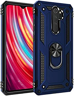 حافظات بمقاس ملائم - حافظة هاتف صلبة بتصميم حلقة معدنية لهواتف شاومي ريدمي/ برو/ نوت 8 برو/ 6 جي/ 64 جي/ 6 جي 128 جي/ 8 جي...