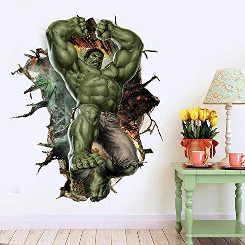 Ligoi 3D Dibujos Animados Hulk Pegatinas De Pared para HabitacióN De NiñOs ExtraíBle Dibujos Animados Animales Ventana Pared CalcomaníAs Bebé NiñOs Regalo