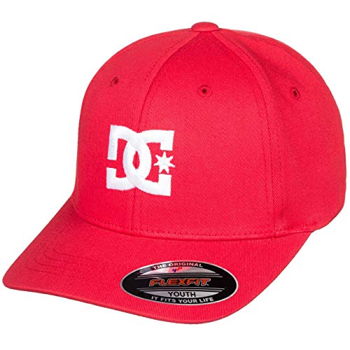 DC Shoes Cap Star-Gorra Flexfit para Chicos 8-16, Niños, Tango Red, 1SZ