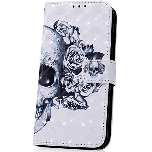 JAWSEU Compatible avec Samsung Galaxy A20/A30 Coque Portefeuille PU à Rabat Housse de Protection,3D Luxe Belle Coloré Motif Ultra Mince Leather Wallet Case Stand Magnétique Flip Cover,#11