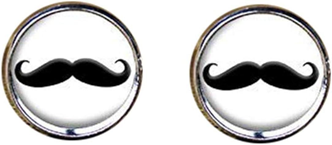 Death Devil Handmade Cuff Links,Moustache Cufflinks, Mustache Cufflinks, Mustache Jewelry,Gift of Love