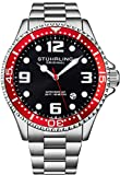 Stuhrling Original Mens Swiss Quartz Stainless Steel Sport Analog Dive Watch!
