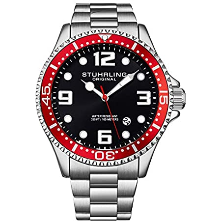 Fashion Shopping Stuhrling Original Mens Analog Dive Watch – Sports Watch Water Resistant 100