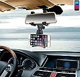 K-S-Trade P. Archos Core 60S Supporto Smartphone Specchietto Retrovisore Titolare Monte Auto Universal Porta Telefono Staffa Culla Cruscotto Montaggio Holder Nero
