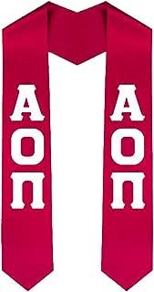 Alpha Omicron Pi AOII New Greek Lettered Graduation Sash Stole