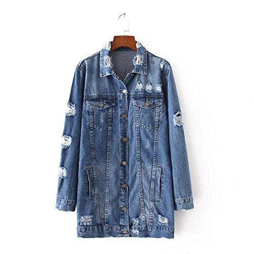 Learn More About HUAN Blue Denim Coat For Women,Womans Denim Jacket Long Sleeve, Ladies Jean Jackets...