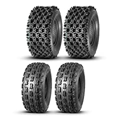 Full Set of 4 ATV tires 21x8-9 21x8x9 Front & 22x10-10 22x10x10 Rear, 4 Ply Rating Tubeless Prior to purchase, please check the size of the original tire on your vehicle to ensure the size of the tire to be purchased is correct. Front Size: 21X8-9;4 ...