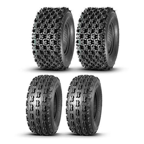 Full Set MaxAuto ATV tires 21x8-9 21x8x9 Front & 22x10-10 22x10x10 Rear, 4 Ply Rating Tubeless