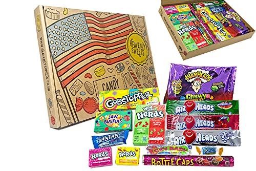 Süßigkeiten Amerikaner. 100% vegane Snack- und Süßigkeitenschachtel - Klassisches USA-Markenset, leckere Leckereien, perfektes Geschenk für Kinder, Erwachsene - Geburtstag, Weihnachten Ostern
