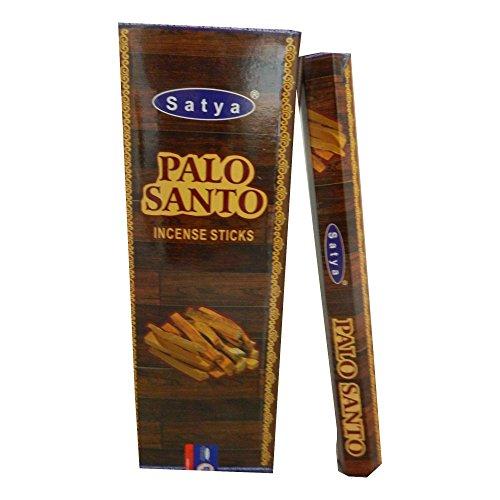 Satya Bastoncini di incenso Palo Santo 120 bastoncini 6 scatoline Fragranza Aroma Decorazione Pack