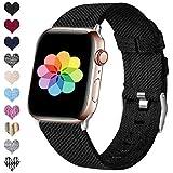 HUMENN Compatible pour Le Bracelet Apple Watch 38mm 40mm 42mm 44mm, Bracelet Sport de...