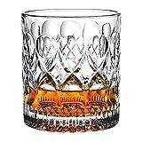 XUFAN Copas de Vino Copa Vodka Barware Antigua Moda 300ml Grabado Diamante Cristal Whisky Vidrio Tumbler Hotel Restaurante Gafas de Agua Vasos de Whisky (Color : 270 ml)