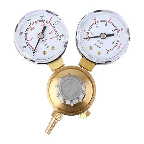 MINI Druckminderer Argon/CO² für MIG/MAG, WIG/TIG Schutzgas Schweißgas Mehrwegflaschen Druckregler