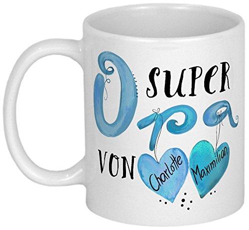 My Sweetheart® Opa Geschenk | tolle PERSONALISIERBARE Opa Geschenkidee | Geburtstagsgeschenk oder Weihnachtsgeschenk | schöne Großvater Tasse