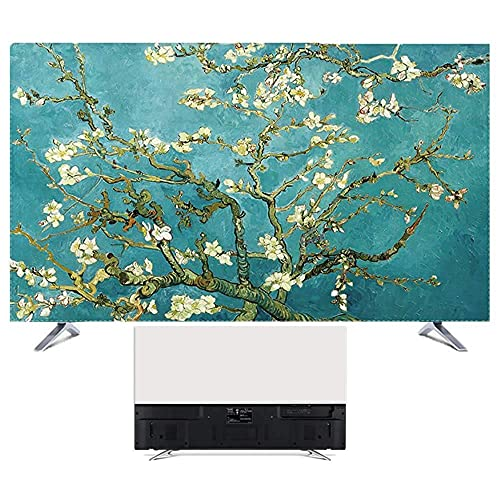 Keephic Cubierta para el polvo de TV, cubierta de tela de poliéster suave, cubierta de polvo limpia, resistente al agua y al polvo, se adapta a LED OLED LCD y televisores de plasma (37 pulgadas)