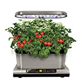 AeroGarden Miracle-Gro Harvest Elite con Gourmet Herb Seed Kit, Acciaio...