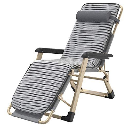 MLTYQ Chaise, Haushaltsprodukte Sunloungers Patio Lounge Recliners Chair Outdoor Schwerelosigkeit Verstellbare Klapp-Liegestühle mit Kissen für Kissen Beach Patio Pool Support 330lbs