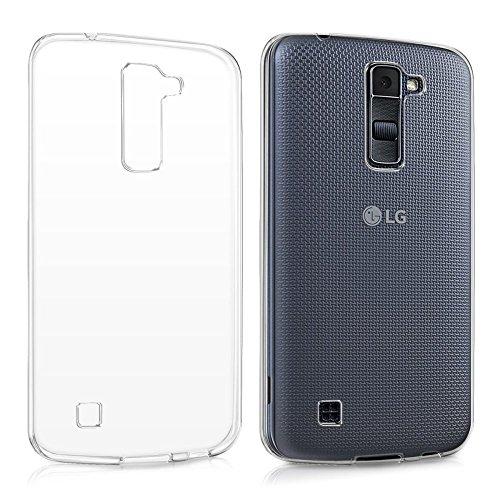 REY Funda Carcasa Gel Transparente para LG K10, Ultra Fina 0,33mm, Silicona TPU de Alta Resistencia y Flexibilidad
