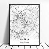 NOVELOVE Murcia Stadt Spanien Karte Poster HD Drucke