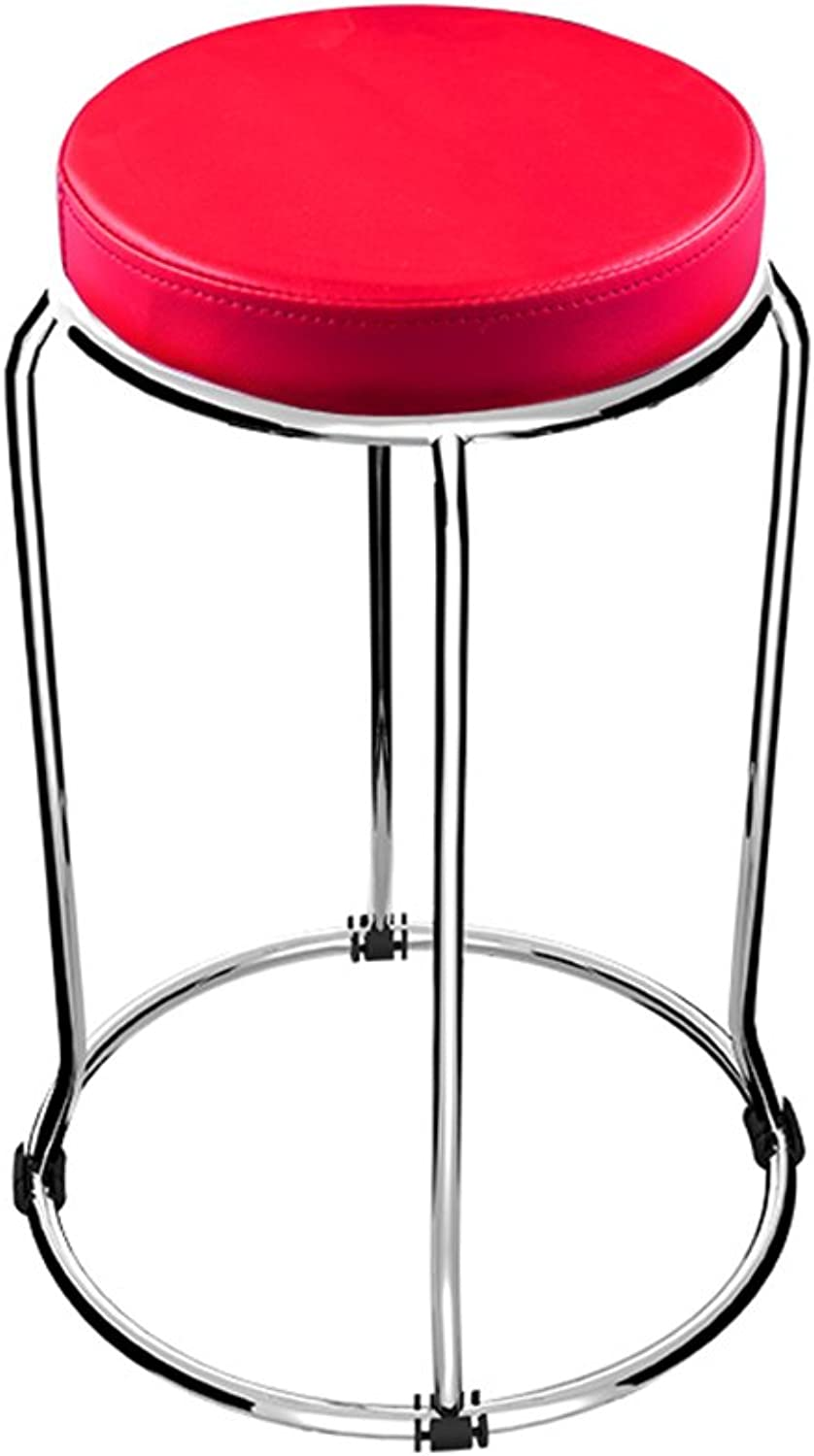 Stool Stainless Steel Round color color Optional 30  30  49cm Solid and Strong Meal Stool Bench (color   4)