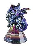 StealStreet 71697 3.5 Inch Blue Baby Dragon on Pyramid Glass, Statue Figurine