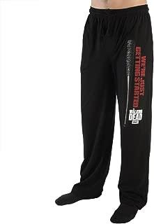 Bioworld Negan Lucille The Walking Dead Black Sleep Lounge Pants