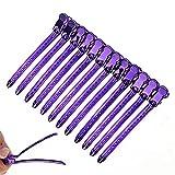 FUANLCJ 12 unids/Set Sección de Metal Peluquería Clip de Peluquería Abrazadera de Pelo Horquillas DIY Barber Salon Hairstyling Secning Tools DIY HOGAR