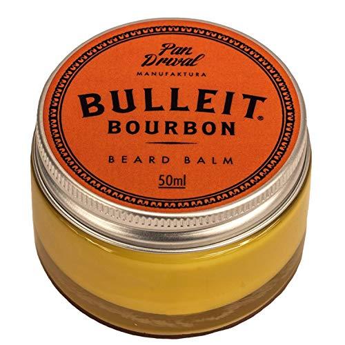 Pan Drwal Bartbalm BULLEIT BOURBON   Bartpomade für Bartträger   natürliche Bartpflege   bringt Bärte in Form   vom Profi-Barbier entwickelt   Duft: Karamell, Orange, Pfeffer und Paprika   50ml