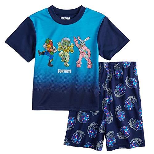 Epic Games Boys Fortnite Dance 2-Piece Pajama Set (12) Blue