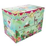 Pink Poppy Forest Fairy Medium Music Box-Green