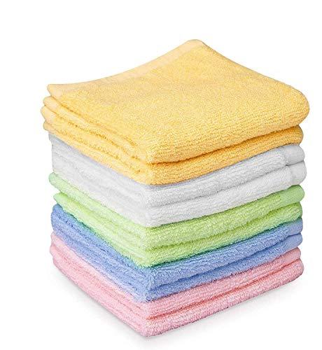 Takestop - Juego de 4 toallas de mano de 50 x 24 cm, de rizo de algodón, para la cara, color aleatorio
