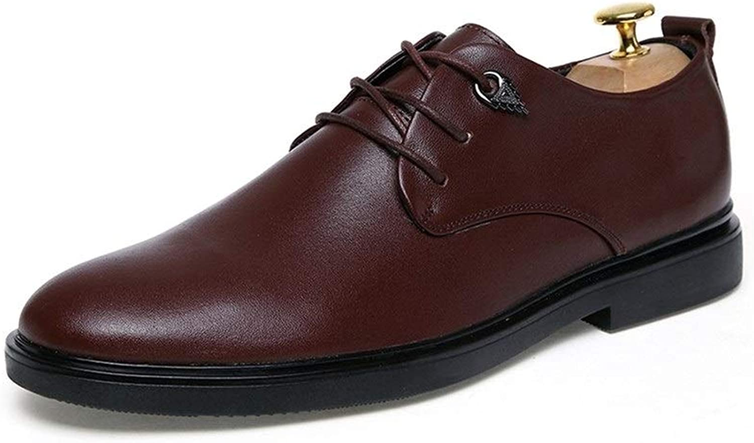 Fashion shoes,Casual shoes Men's Pointed Toe Oxford for Men Lace up British Style Genuine Leather Business Formal Wedding Dress shoes Personality shoes, Oxford shoes (color   Brown, Size   8 UK)