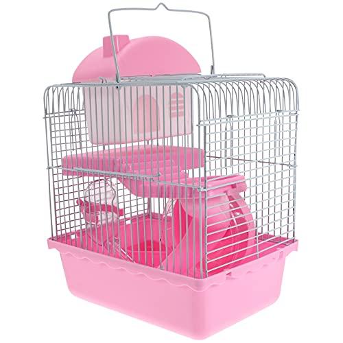 Balacoo Jaula de Hámster Casa de Rata Pequeños Animales Habitats con Botella de Agua Escalera Ejercicio Ruedas Túnel Juguetes para Ratón Chinchilla Rata Jerbo Conejillo de Indias