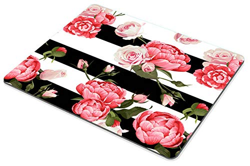Smooffly Gaming Mouse Pad Custom,Peony and Roses Customized Rectangle Non-Slip Rubber Mousepad 9.5 X 7.9 Inch (240mmX200mmX3mm) Photo #4