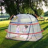 Pop Up Moskitonetz für Doppelbett, Large Portable Zelt Travel Doppeltür Reißverschluss Bettnetz, einfache Installation, feinmaschig, für Schlafzimmer Outdoor Camping, keine Haken, keine Chemikalien - 7