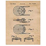 Vintage Star Trek Patent Poster Prints, Set of 1 (11x14) Unframed Photo, Wall Art Decor Gifts Under 20 for Home, Office, Garage, Man Cave, Studio, College Student, Teacher, Comic-Con & Movies Fan