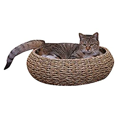 Cat Basket PetPals Seagrass Bed [tag]