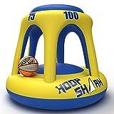 FLOAT-EEZ Hoop Shark Swimming Pool Basketball Hoop Set -...