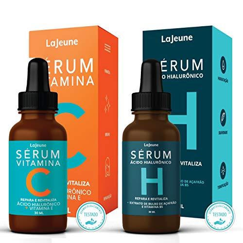KIT Facial 1 Sérum Vitamina C (Repara, Clareia e Revitaliza) + 1 Sérum Hidratante Ácido Hialurônico (Hidrata, Suaviza e Tonifica)