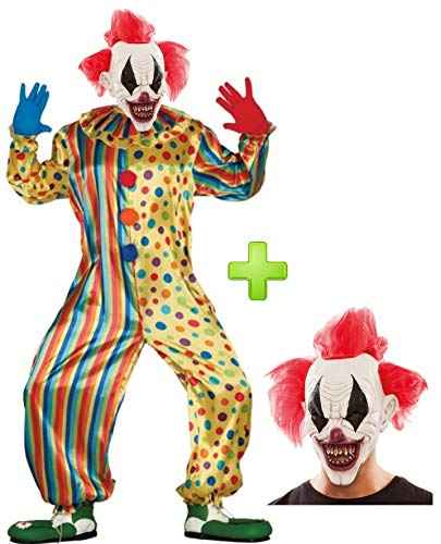 Disfraz de Payaso Asesino con mascara - Disfraces Hallowen