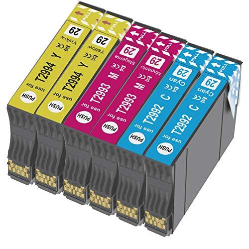 Teland 29XL - Cartuchos de tinta para Epson 29XL para Epson Expression Home XP-235 XP-245 XP-247 XP-330 XP-332 XP-335 XP-342 XP-345 XP-430 XP-432 XP-435 (6 unidades)