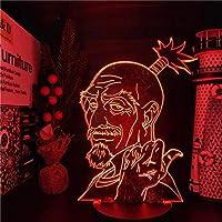 GMYXSW 3D子供用ランプ象動物LEDナイトライトベッドルーム雰囲気ランプベッドサイドランプ16種類の色変更ホリデープレゼント